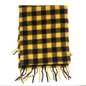 GAP Yellow Black Plaid Check Bumblebee Scarf